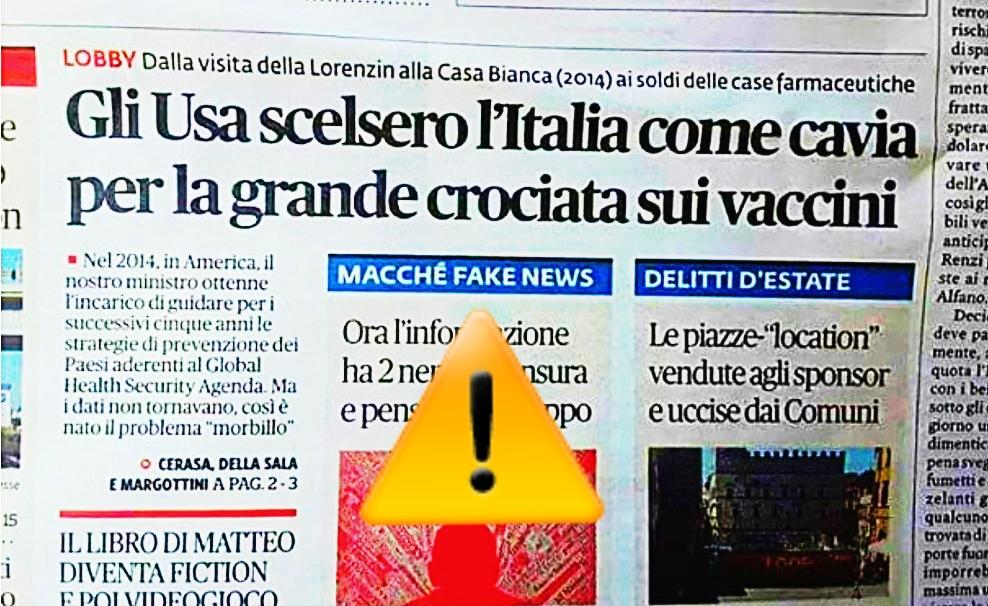 GLI USA SCELSERO L'ITALIA COME CAVIA PER LA GRANDE CROCIATA SUIVACCINI
